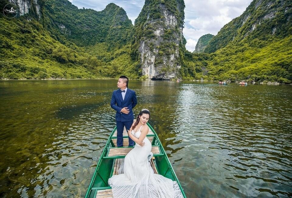 Tràng An tuyệt đẹp với phong cảnh ảnh cưới