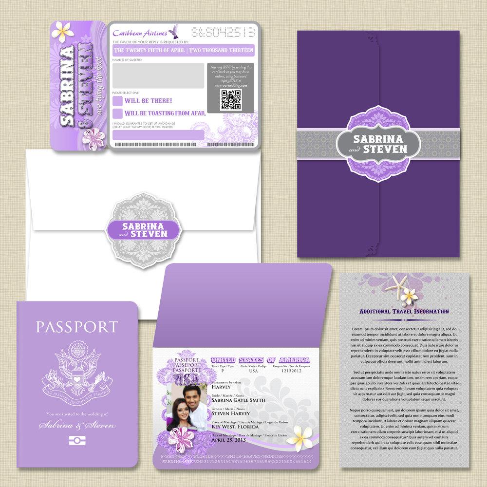 Thiệp cưới passport 3