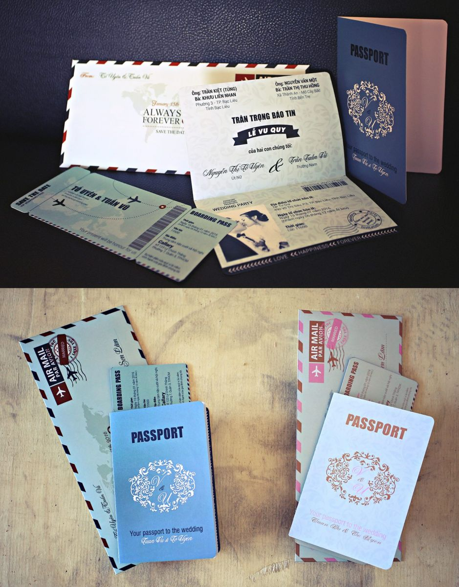 thiệp cưới passport 1