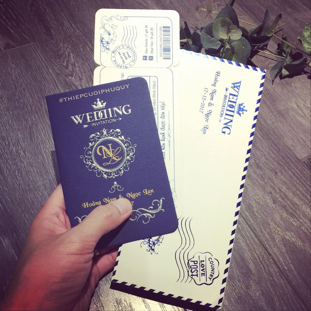 Thiệp cưới passport 2