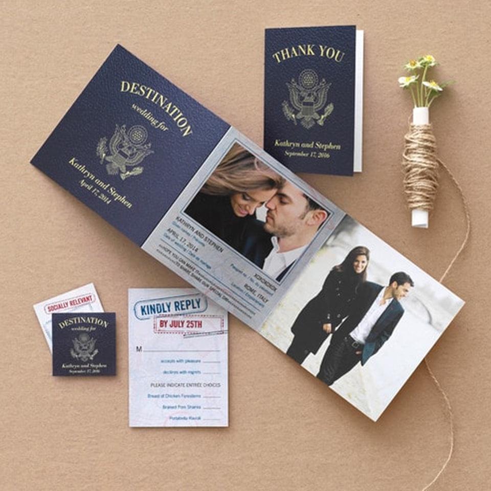 Thiệp cưới passport 6